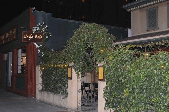 Cafe Brio exterior -- lovely