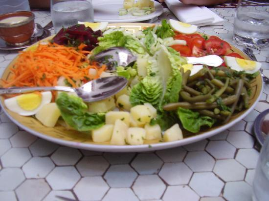 Riad Slawi: Delicious and filling salad platter, which we couldn't even finish