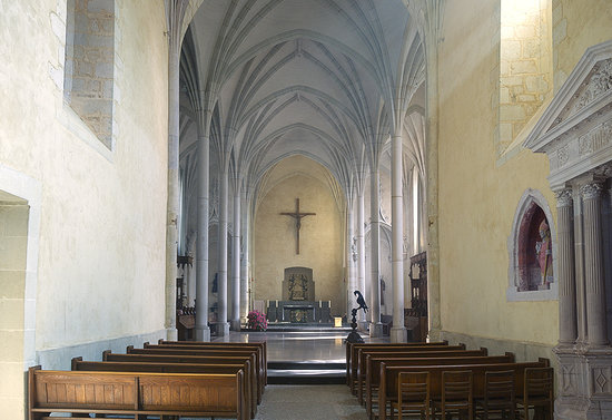 Loire Valley, Frankrike: Solesmes Abbey