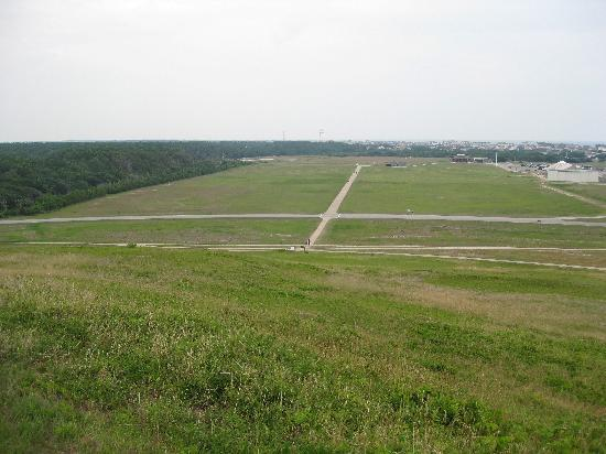 Wright Brothers National Memorial: Looking down from the monument