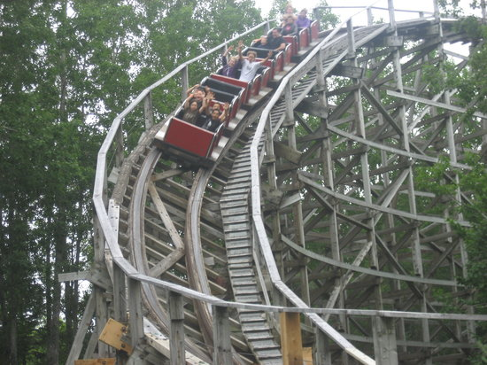 Annapolis Royal, Canada: Their wooden roller coaster