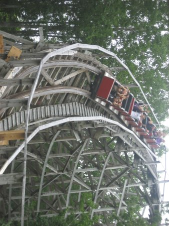 Upper Clements Parks: Their wooden roller coaster