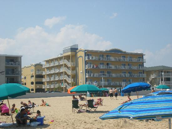 View From The Beach Picture Of Crystal Beach Hotel Ocean City Tripadvisor