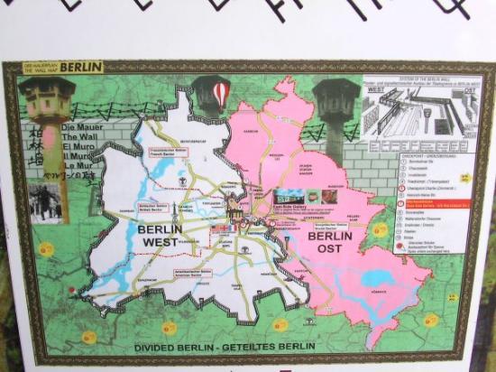 Map Of West BerlinEast Berlin Picture Of Berlin Germany - Berlin map east west