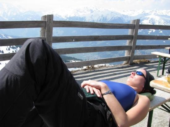 Gerlos, ออสเตรีย: Een middagdutje in de zon...
