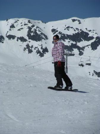 Gerlos, ออสเตรีย: Snowboarden...