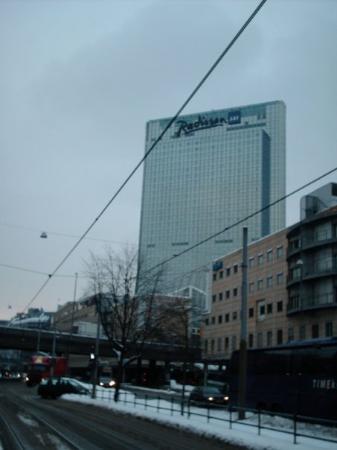 Radisson Blu Plaza Hotel, Oslo: El hotel Radisson es uno de los edificios más altos de la ciudad, el bar en el piso 14 da una vi