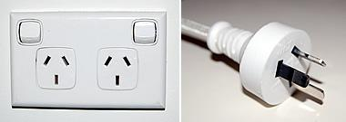 Australian outlet and power cord
