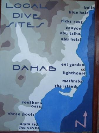 The Dive sites map - Picture of Dahab, South Sinai - TripAdvisor