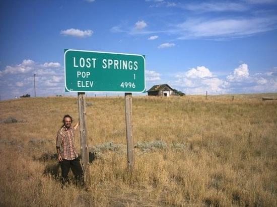Lost Springs, WY: Lost spring..... date un occhio agli abitanti :P