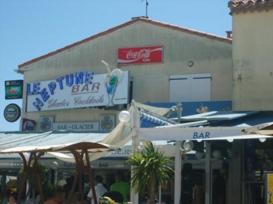 Marseillan Plage, França: NeptunBar in MarseillanPlage in Südfrankriich
