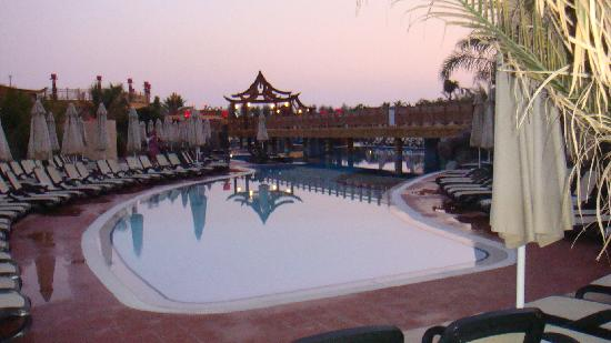 Royal Dragon Hotel: part of the large pool area