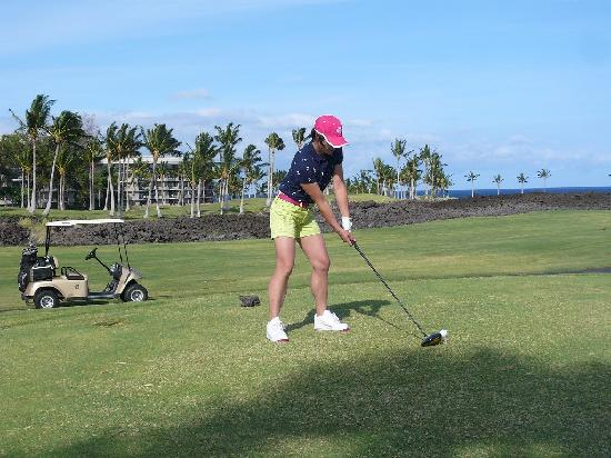Waikoloa Beach Golf Course : オーシャンフロント12番