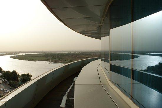 Corinthia Hotel Khartoum: Balcony Shot from Burj Al Fateh Hotel