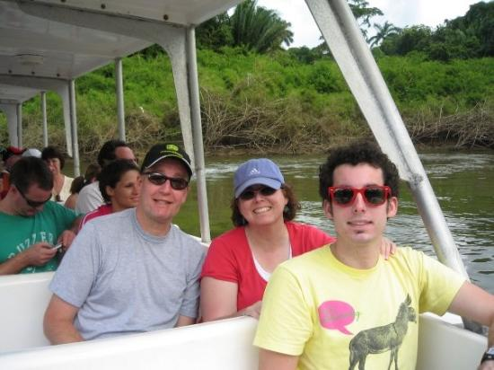 Belize Cruise Excursions: Dean, Valorie Graeme floating down the Old Belize river enjoying the sights and sounds of nature