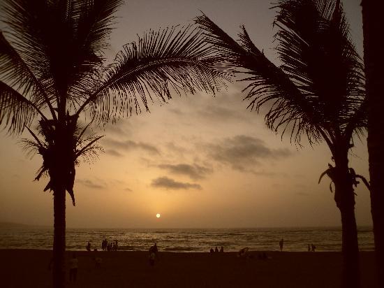 La spiaggia a due passi dall'hotel Pujol