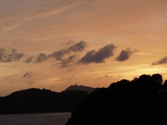 Kantary Bay, Phuket : Big Buddha at Sunset from our Balcony