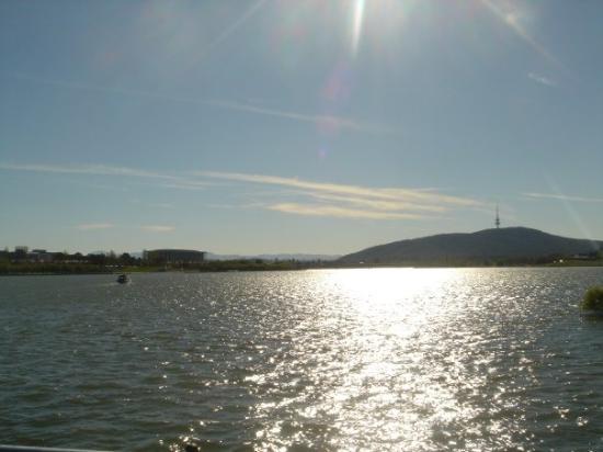 Lake Burley Griffin looking towards Black Mountain.