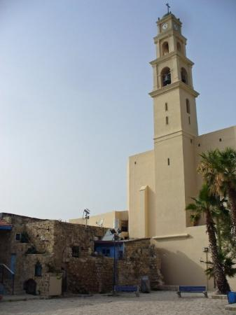 Saint Peter Church : Jaffa.  The tower is part of St. Peter's.