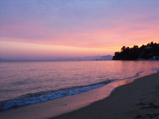 Skiathos, Greece: Sunset at Troulos