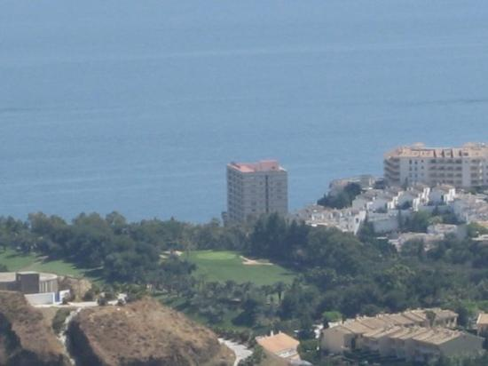 First Flatotel Internacional: View of our hotel Flatotel from above Benalmadena Pueblo