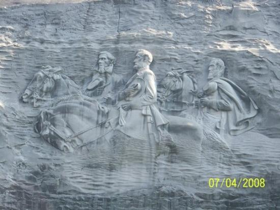 Stone Mountain Carving: Another close up