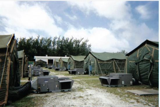 Tent city Diego Garcia. & Camp Justice at Diego Garcia British Indian Ocean Territory ...