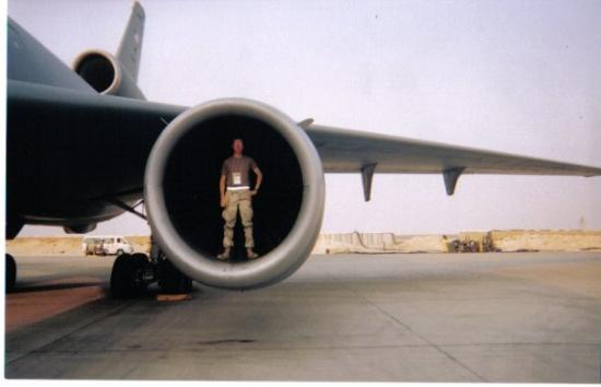 Me Standing In The Engine Inlet At Prince Sultan Air Bas