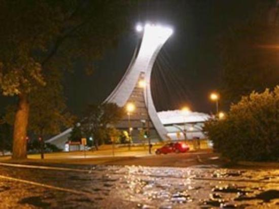 Olympic Park (Parc olympique): night - montreal, canada parc olympic