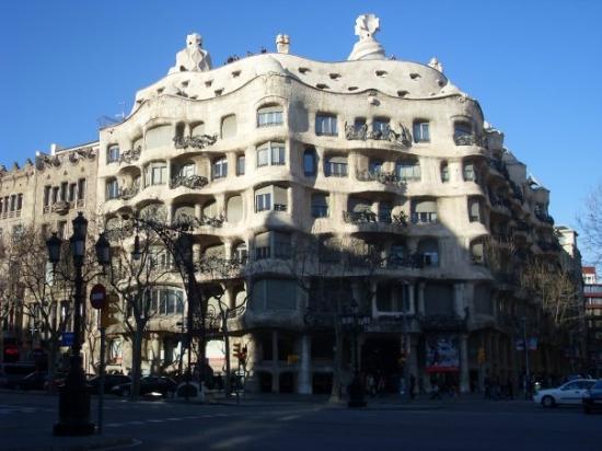 das Haus von Antoni Gaudi wo er gelebt hat Bild von