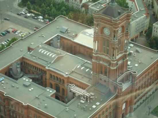 Mitte: Aerial view of Rotes Rathaus