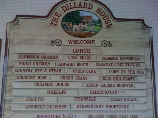 Lunch served at The Dillard House
