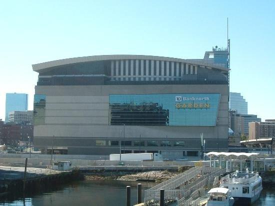 This is an outside pier view of TD Banknorth Garden home to the
