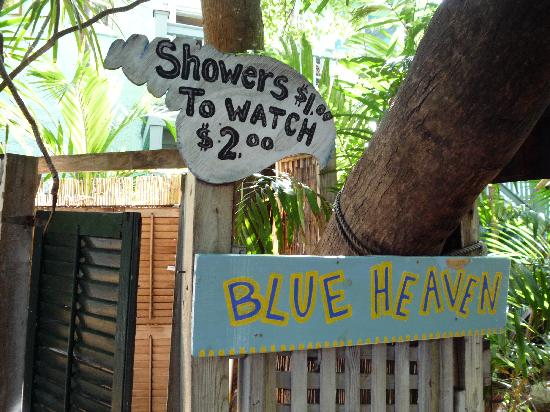 Funny Sign at Blue Heaven