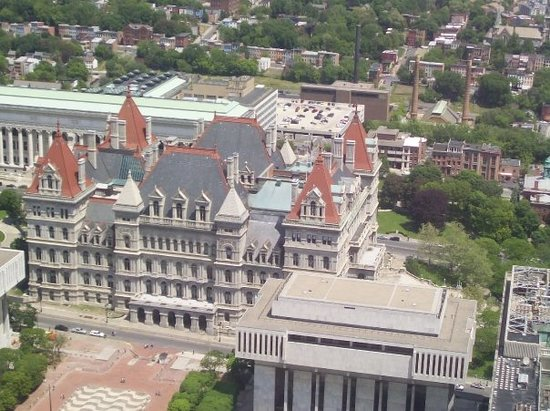 New York State Capitol: a view from the top of the tallest building in Albany!