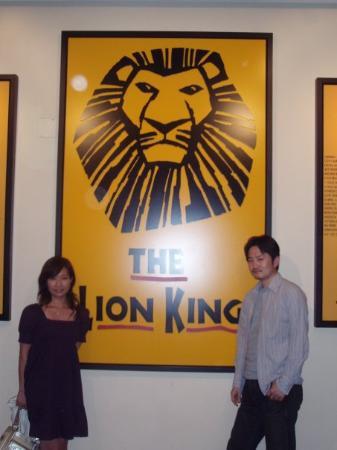 The Lion King: ベタですが、Lion King観ました! シンバがすっごくカッコイイ。。。。
