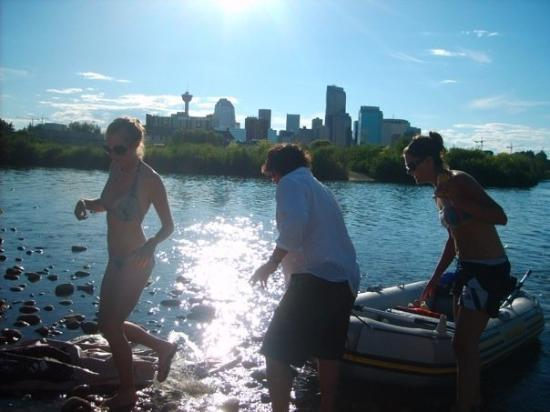 Bow River : where the bow meets the elbow. sweet pic with the city in the background!