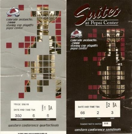 Pepsi Center: Séries de la Coupe Stanley 2000