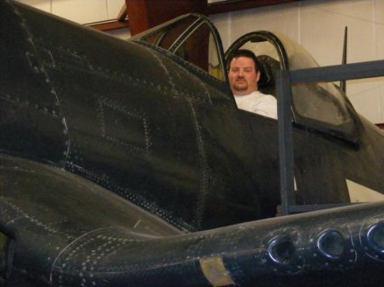 They let me get into the cockpit of a F4-U Corsair in Windsor Locks, CT, but wouldn't let me tak