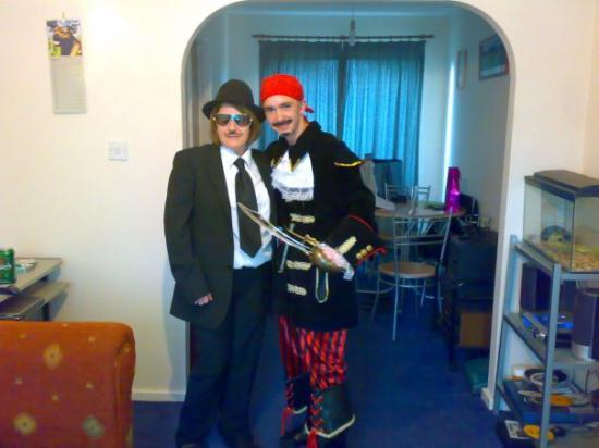 Wigan, UK: me and sal just before we went to the fancy dress party