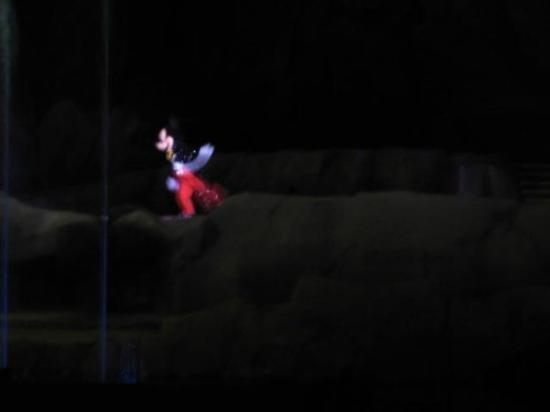Fantasmic!: Mickey from a distance in the Fantasmic show!
