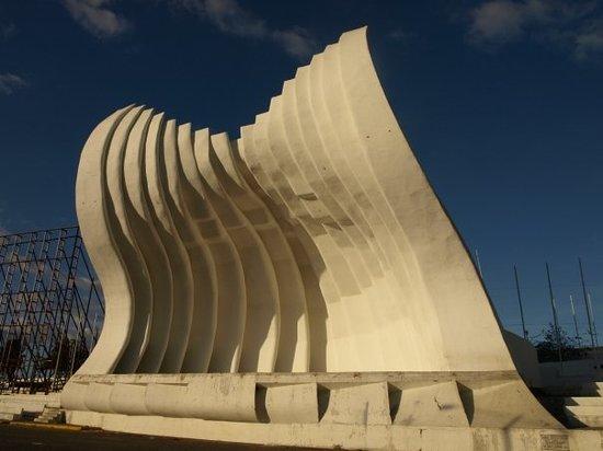 "Managua   ""Concha Acústica"", a white shell, 23m high"