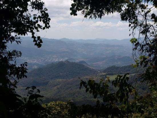 central highland: view to Matagalpa from Selva Negra
