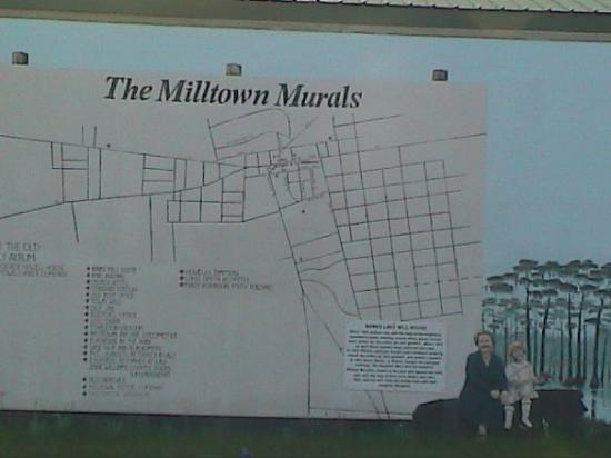 lakeland was called milltown once and it is covered with the murals featering people from the mo