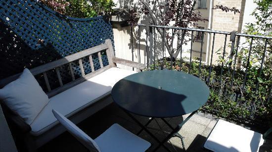 Hotel de l'Abbaye Saint-Germain: duplex apartment private terrace