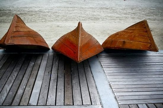 Bintan Island, Indonezja: Wooden Boats - Bintan, Indonesia