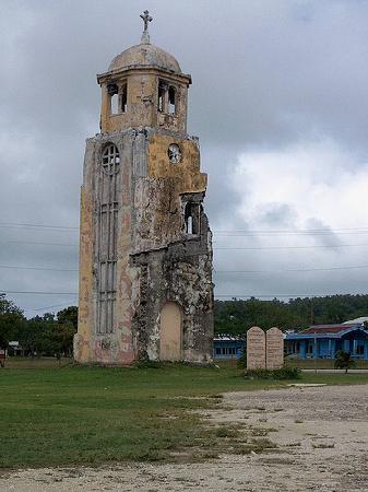 Tinian, Mariana Islands: Tower in San Jose