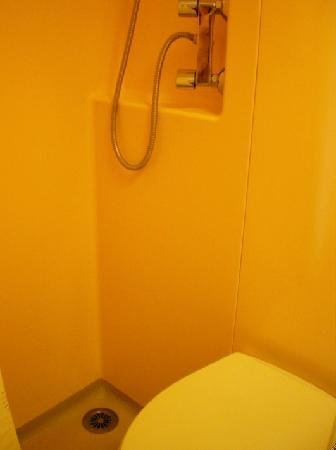 Kantara Guest House: The shower - tiny, and yeah, right next to the toilet