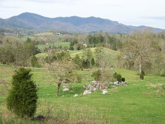 Country Manor Acres : A beautiful view of the Smokies and bottom portion of the property
