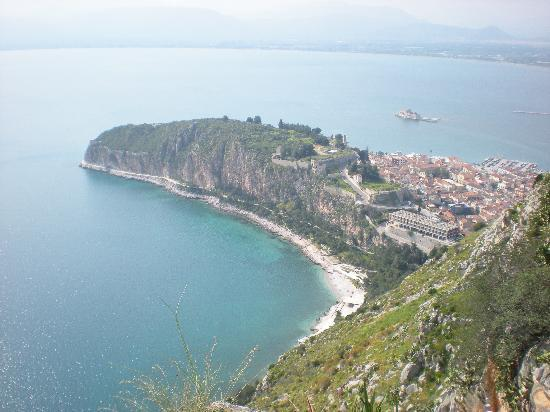 Nafplio, Grécia: View from the top of the fortress (Kolokotronos Castle)
